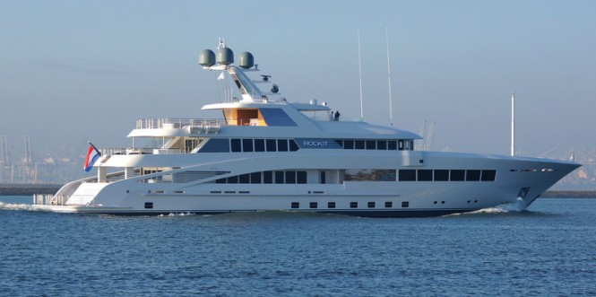 Luxury mega yacht ROCK.IT - Image credit to Kees Torn