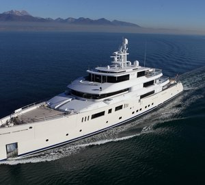 Baccarat Trophy for the Best Interior Design for 73m Perini Navi motor yacht GRACE E