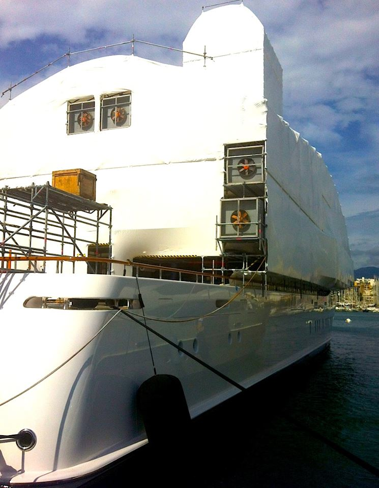 Luxury Motor Yacht Ilona Undergoing A New Paint Job