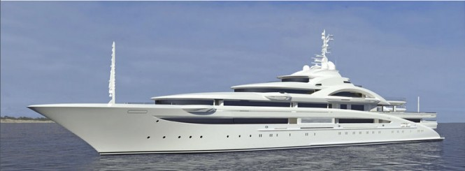 Luxury motor yacht project 120 designed by H2 Yacht Design