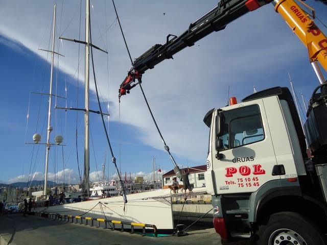 Luxury sailing yacht Kamaxitha at STP shipyard