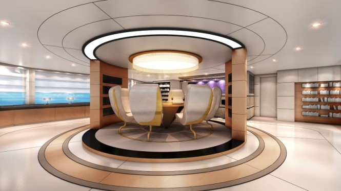 Luxury yacht Austin concept - Salon