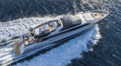 Luxury yacht Mythos from above - Photo by Alberto Cocchi