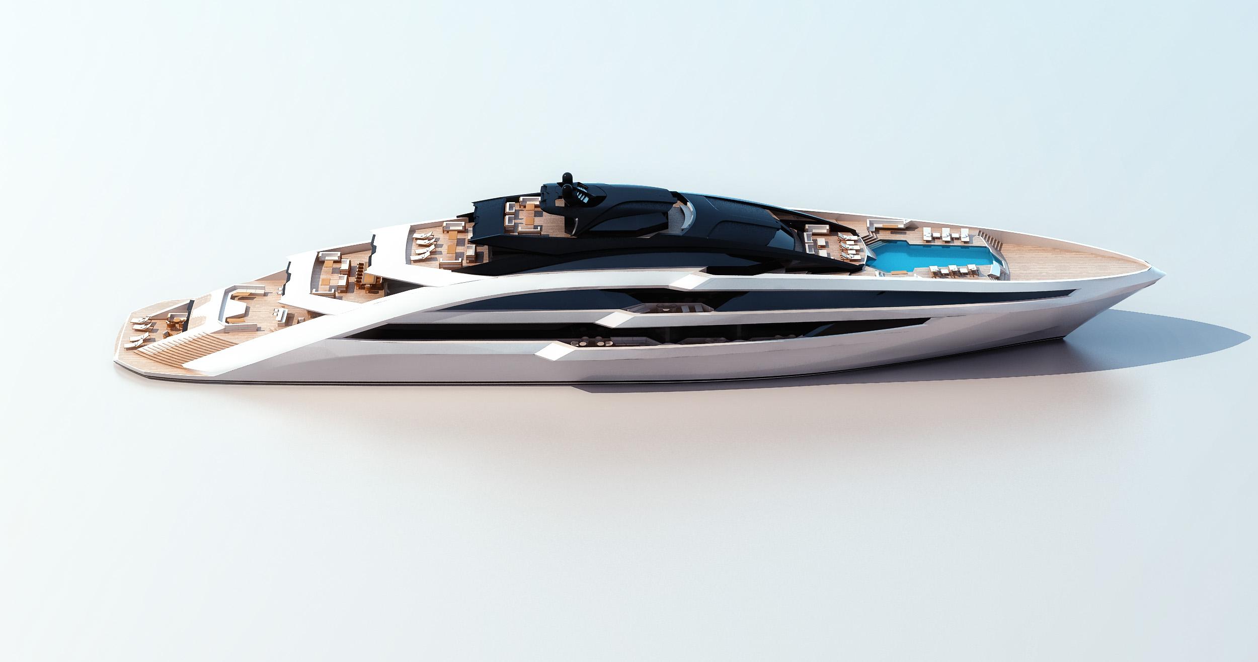 Luxury Yacht Sea Arrow Concept Charter