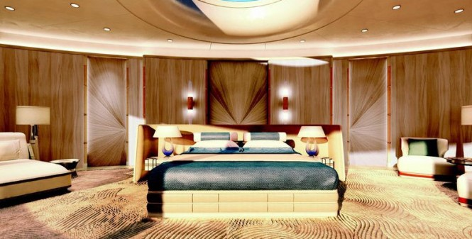 Luxury yacht Tomorrow project - Owners Stateroom