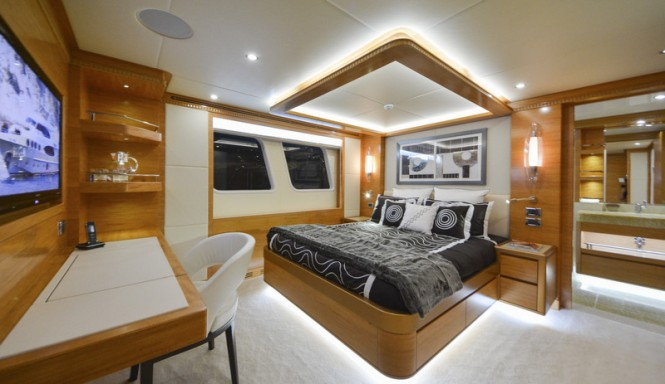 Majesty 135 superyacht - Double Guest Stateroom