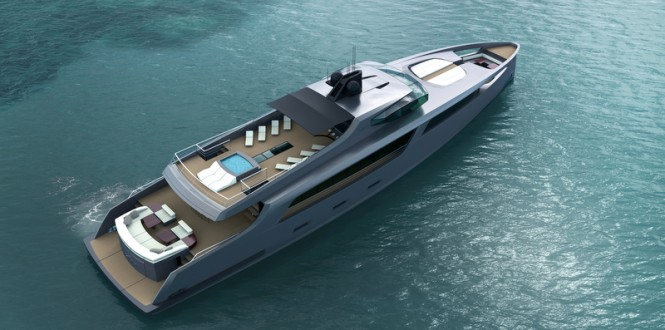 Motor yacht Project Taurus from above