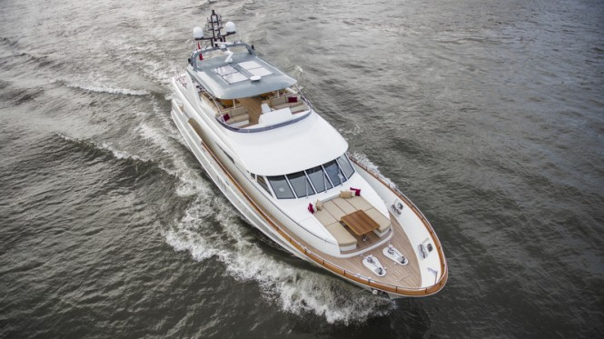 Mulder 98 Flybridge super yacht YN1391 from above