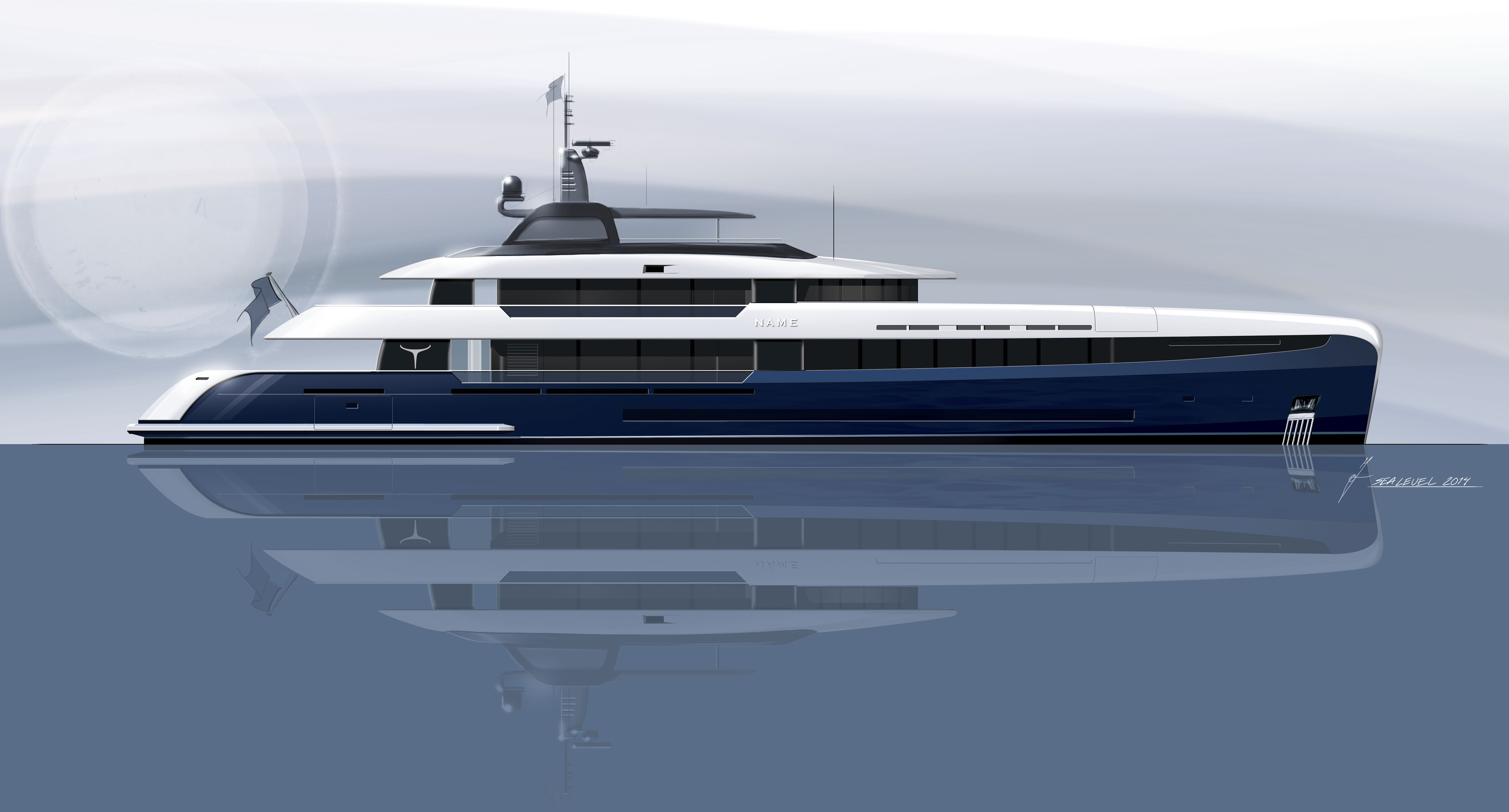New 50m Motor Yacht Concept By Acico Yachts And Sea Level