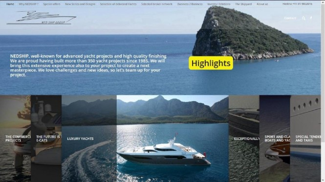 New Homepage released by Ned Ship Group