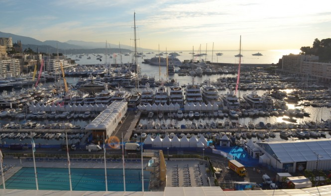 Port Hercule, a glamorous Monaco yacht holiday destination, during MYS 2014