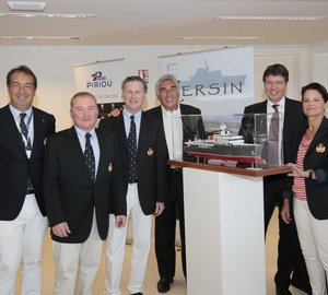 First La Belle Classe Superyachts Ambassador introduces his new 77m expedition yacht YERSIN at Monaco Yacht Show 2014