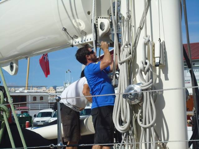 RSB Rigging Solutions team aboard Kamaxitha Yacht