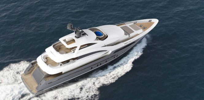 Sarp 46 Yacht from above