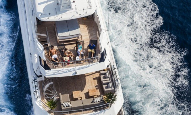 Solaris Yacht from above