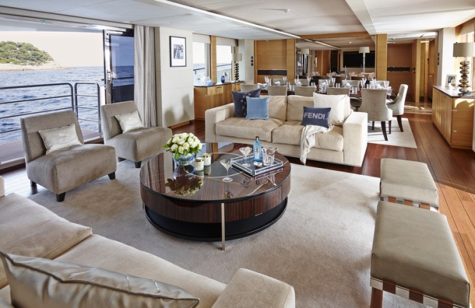 Solaris superyacht - Main Saloon