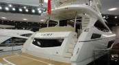 Sunseeker 75 Yacht on display at the 2014 London Boat Show