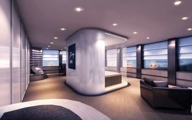 Superyacht Austin concept - Owners Stateroom