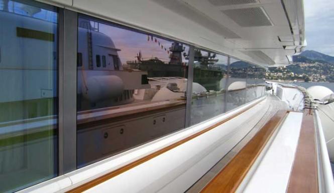 Superyacht Lady Moura - External blind windows — Luxury Yacht ...