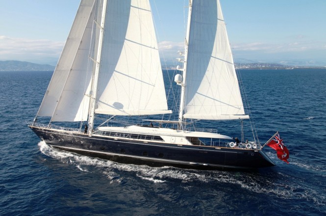 Superyacht SILENCIO under sail
