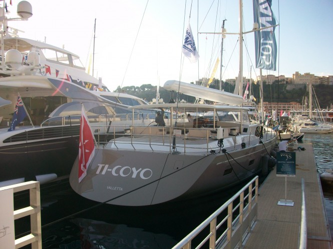 Swan 105RS super yacht Ti-Coyo at the 2014 Monaco Yacht Show
