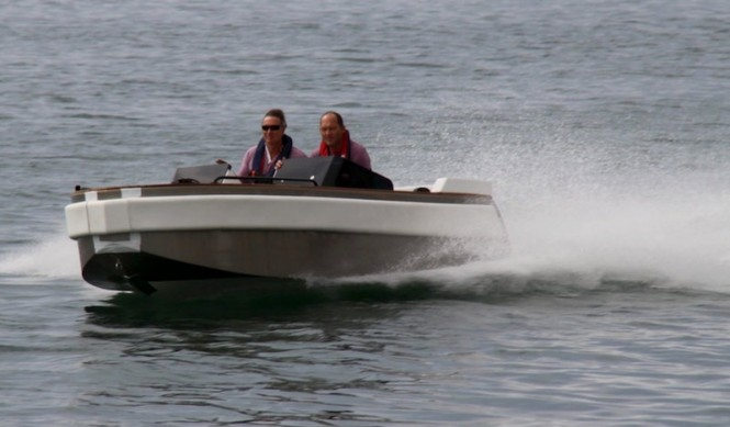 The Ampere 5.5 tender to luxury yacht NONO