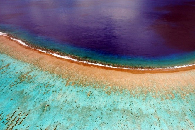 The Islands of Tahiti from above