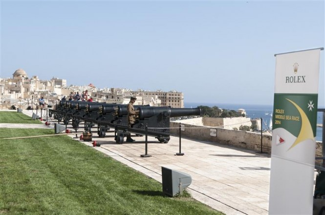 The Saluting Battery cannons, ready to mark the start of the race - Photo by Rolex Kurt Arrigo