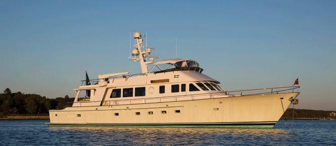 Tumblehome Yacht by Lyman Morse