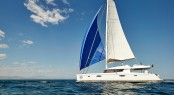 Victoria 67 charter catamaran LIR - Photo credit LIR Yacht