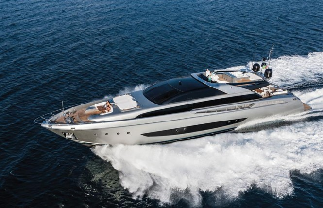 World debut for Riva 122' Mythos superyacht SOL at 2014 FLIBS
