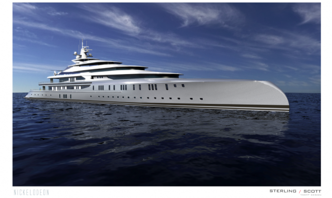 127m mega yacht NICKELODEON project developed by Diana Scott