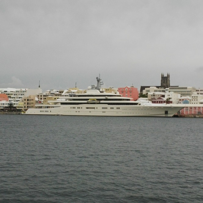 162m mega yacht Eclipse by Blohm and Voss in Bermuda