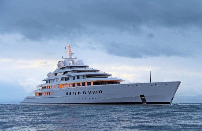 180m Lurssen mega yacht AZZAM designed by Nauta - Photo by Giovanni Romero/TheYachtPhoto.com
