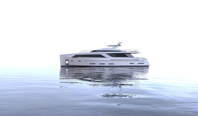 30m Nick Mezas luxury yacht concept - side view