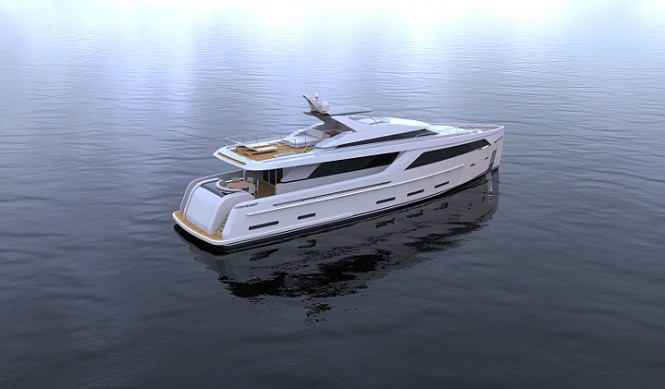 30m Nick Mezas super yacht concept from above
