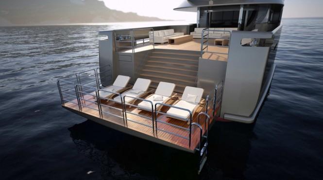 56m Explorer G2 Yacht - aft view