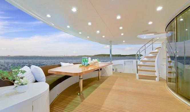 Aboard Paradise Yacht
