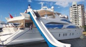 Adjustable Yacht Slide aboard Azimut charter yacht Hye Seas