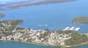 Aerial view of Soldiers Point Marina