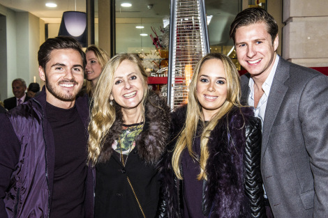 Alex Head (L), Donna Castle, Lauren Head and David Ox (R) pictured at Sunseeker London