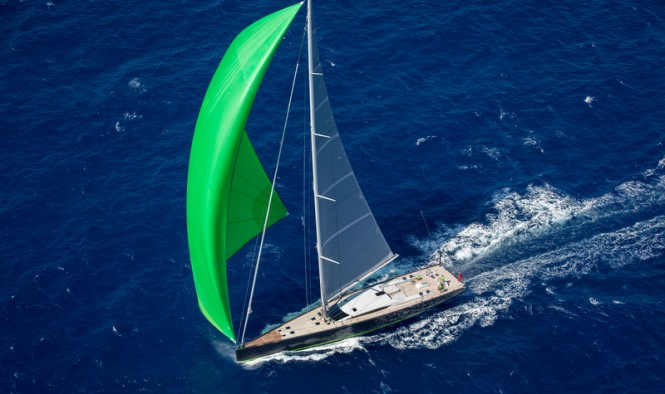 Baltic 108 super yacht WinWin from above - Photo credit to Jesus Renedo