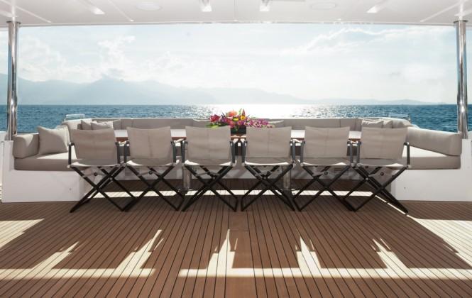 Benetti Motor Yacht Veloce 140 - Dining al fresco