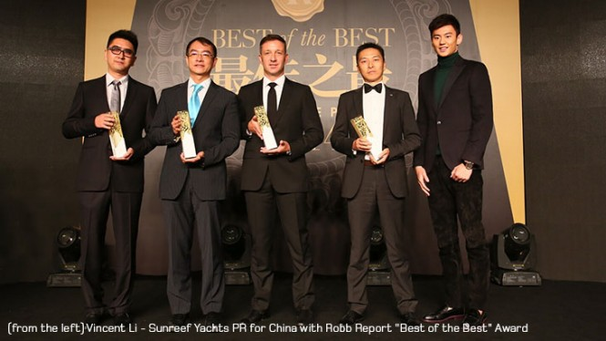 Best Sailing Boat of the Year 2014 Award for superyacht Sunreef 156 ULTIMATE
