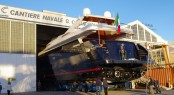 Castagnola 38WJ super yacht Angra Too ready to be launched