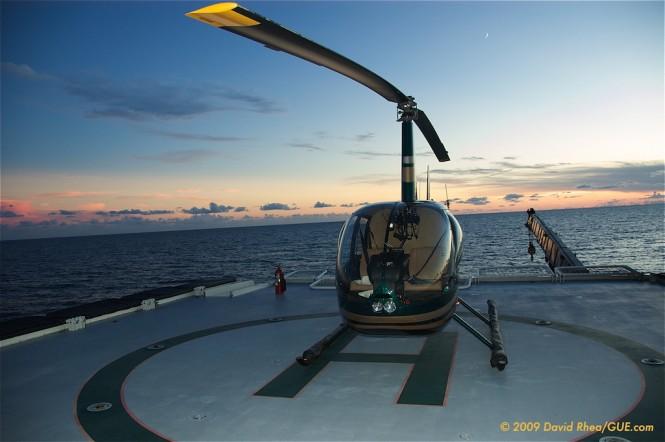 GLOBAL yacht features an indispensable helipad