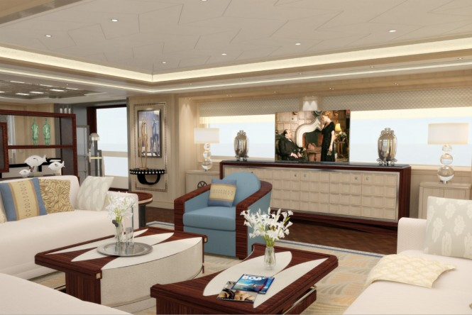 Guido de Groot Art Deco superyacht interior design
