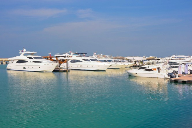 Gulf Craft's showcased the largest fleet of yachts and boats at the Qatar International Boat Show