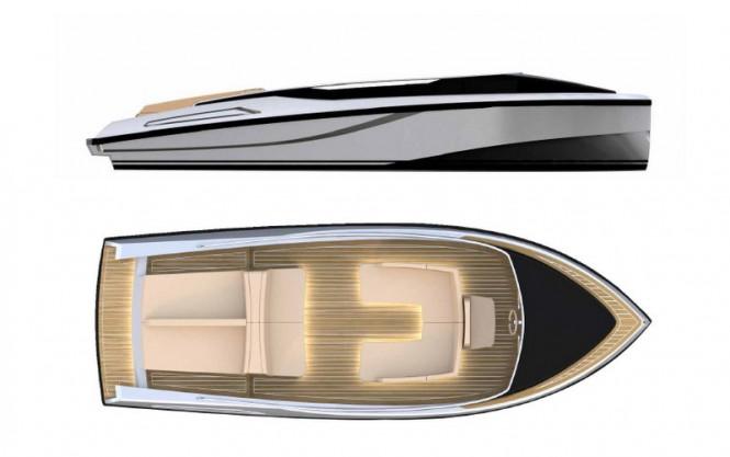 KITE 7.2 superyacht tender - Layout