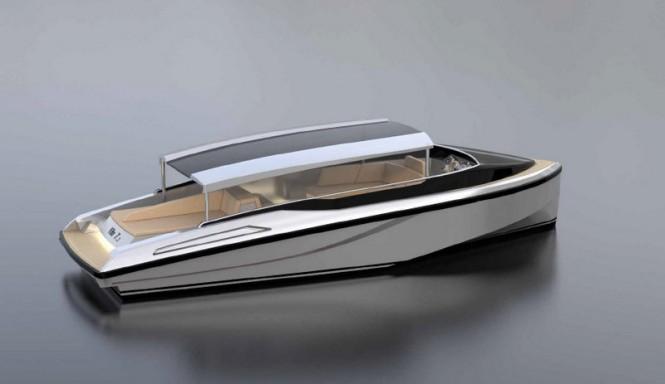 KITE 7.2 superyacht tender from above